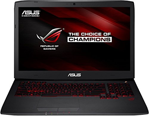 Asus ROG G751JT-T7095H 43,9 cm (17,3 Zoll Full HD) Notebook (Intel Core i7-4720HQ, 16GB RAM, 2TB HDD+ 256GB SSD, NVIDIA Geforce GTX 970M, Blu-Ray, Win 8.1) schwarz