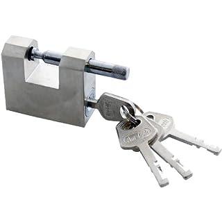 Amtech T1675 All Steel Shutter Lock with 4 Keys, 50 mm