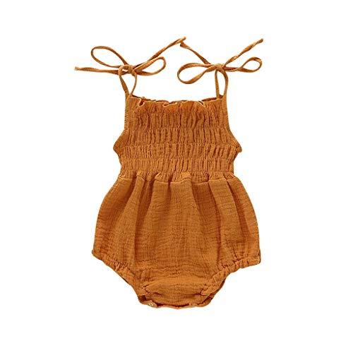 Zylione Baby Crawler Kinder Sommer ärmelloses Armband Baumwolle und Leinen Falten
