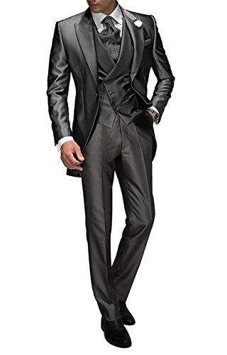 Suit Me Tailored Men 3 Piezas de Traje de Chaqueta de Smoking Chaqueta de  la Boda 839ff95befea