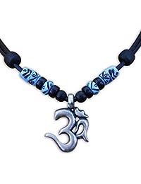 HANA LIMA ® Surferkette Om Shiva Buddha Indien Halskette Lederkette Surferhalskette