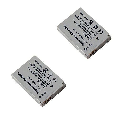2x MTEC Akku *1120mAh* für Canon Powershot S100 SX200 IS SX210 IS SX220 HS SX230/Ixus 950 960 970 980 990/Ersetzt Originalakku Bezeichnung: NB 5L/NB5L