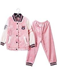 878c77da2c Los Pespuntes Color Engrosamiento Pijama cómoda casa de Dos Piezas Sueltas  de Servicio Simple (Color