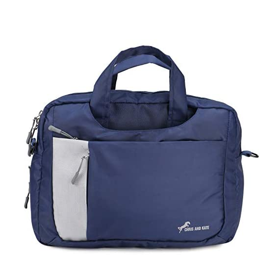 Chris & Kate Blue 4-Way Laptop Bag - Hand | Shoulder | Backpack Bag | Messenger Bag(CKB_195MA)