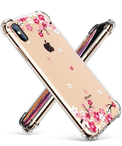 GVIEWIN Kompatibel mit iPhone X Hülle, iPhone XS Hülle, weich Transparent Case TPU Silikon Cover Durchsichtige Bumper Schutzhülle Ultradünn Handyhülle iPhone X/XS 5.8