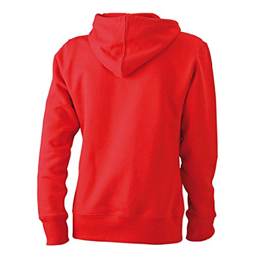 JAMES & NICHOLSON Sweat-shirt a capuche Rouge