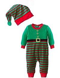 Meihuida Baby Kind Boy Weihnachten Sankt Schneemann-Kostüm Weihnachten Jumpsuits Outfit + Mütze Set