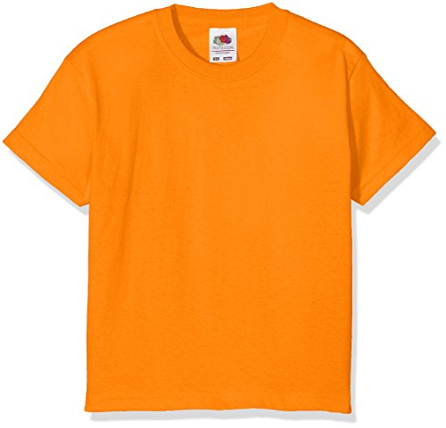 Fruit of the Loom Value T, Camiseta Niñas, Naranja, 3-4 Años
