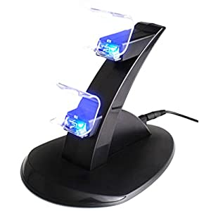 NuoYa005 USB LED Lade Dock Station stehen für Dual Playstation 4 PS4 Spiel Regler