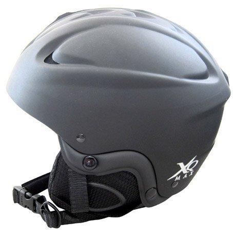 XQMAX Adult Ski Helmet Black Large