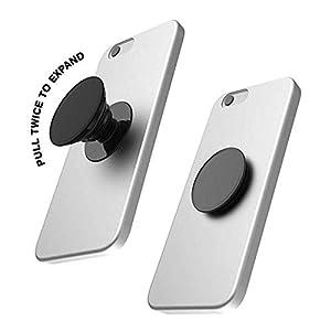 LR Black Marble Air Pocket Popsocket Combo Mobile Holder with Popclip Car Mount | Design: Black Marble | Colour: Black
