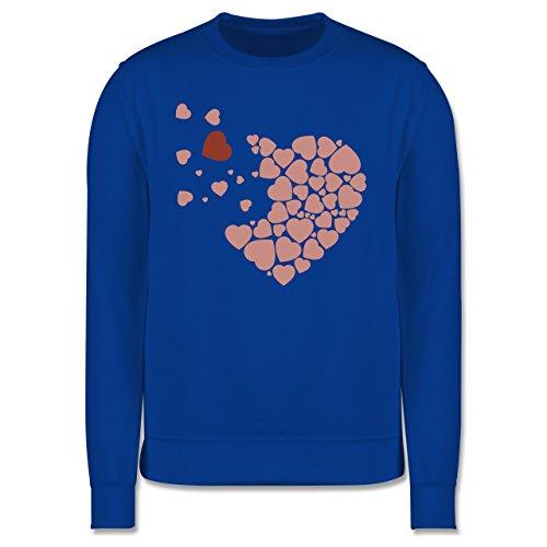 Romantisch - Herz Herzchen - Herren Premium Pullover Royalblau