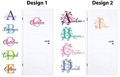 NEU Aufkleber/Sticker für Kinderzimmer - Wände,Türen, Autoscheiben/Lack uvm ***BUCHSTABE mit WUNSCHNAMEN***(Größen.- und Farbauswahl) -