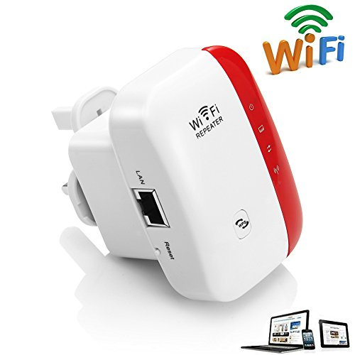 Wireless Wifi Repeater Long Range Extender Amplifier 2.4GHz Network Adapter Wireless-N Mini AP Access Point Dongle IEEE802.11N/G/B Mini AP Router Signal Booster(300M-New Chip) Test