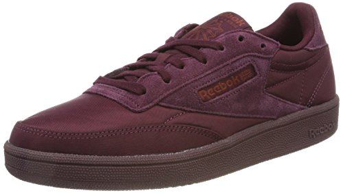 Reebok Damen Club C 85 Soft Sneaker Rot (Dark Red/Rust Met) 37 EU