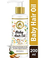 Mom World Baby Hair Oil 200ml With Organic ColdPressed N