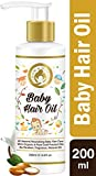 #6: Mom & World Baby Hair Oil, 200ml - With Organic & ColdPressed Natural Oil for Kids