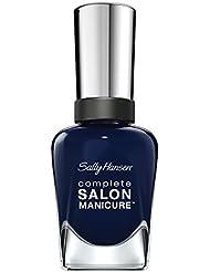 Sally Hansen Complete Salon Manicure Nagellack mit Keratinkomplex Nightwatch, dunkles Navy Blau, glänzender Pflegelack ohne UV-Licht, langanhaltend Nr. 674, (1 x 14,7 ml)