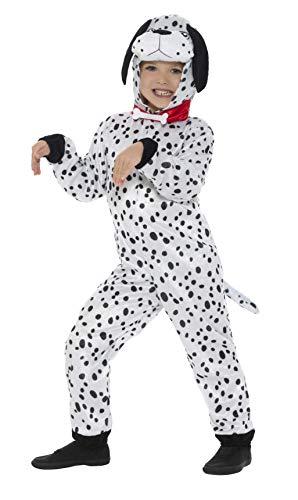 Für Hunde Jungen Kostüm - Dalmatiner-Kostüm für Kinder von Smiffy's, Hund/Welpe für Kostümpartys, für Jungen und Mädchen, Medium