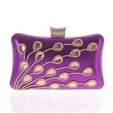 WZW Damen Spezielle Werkstoff Alltag / Veranstaltung / Fest Unterarmtaschen / Abendtasche Purple