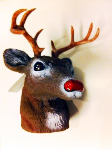 Creek Schlitten (Rudolph mit der roten Nase, Hirsch Kopf als Abdeckung für Anhängerkupplung oder Flaschendeko)