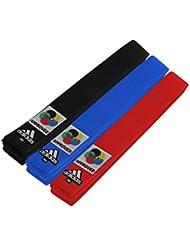 adidas WKF Karate cinturón, rojo, 240 cm