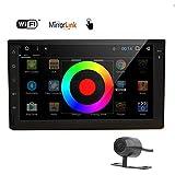"""Del doble 2 DIN en el tablero estéreo del coche 7"""" Android 6.0 GPS de pantalla táctil de la unidad principal de Bluetooth radio de coche con WiFi / FM / AM / RDS / AUX / receptor de audio USB Plug and Play + Ver gratuito cámara trasera"""
