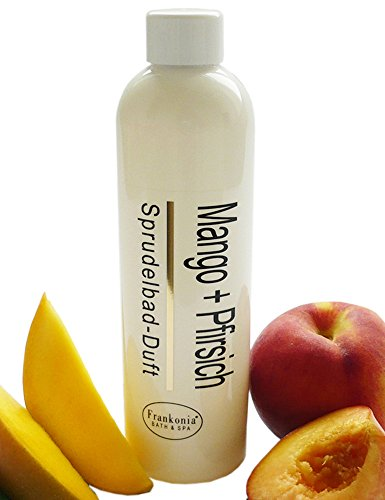 Lashuma Whirlpoobadezusatz Whirlpool Badezusatz Mango - Pfirsich Sprudelbad-Duft, Whirlpoolduft Konzentrat 250 ml