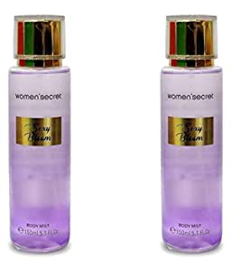 Women Secret Set of 2 Pcs Original Sexy Bloom Body Mist for Women (Purple), After Bath Body Spray, Refresher and Long Lasting, Imported Brand-300ML