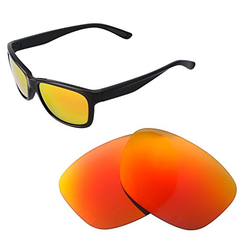 Walleva Ersatz Linsen für Oakley Forehand - Verschiedene Optionen, Fire Red Mirror Coated - Polarized