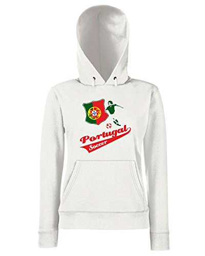 T-Shirtshock - Sweats a capuche Femme WC0101 PORTOGALLO PORTUGAL Blanc