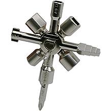 10en 1multifunción cerrajero ganzúas herramientas Cruz triángulo clave llave eléctrica gabinete Gas eléctrico universal Llave Maestra Para Fontanero
