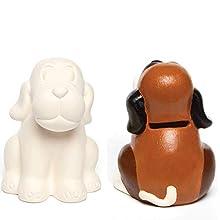 Dog Ceramic Coin Banks (Pack of 2)