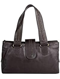 Hidesign Nolan 1416 Women's Shoulder Bag Large (Brown)