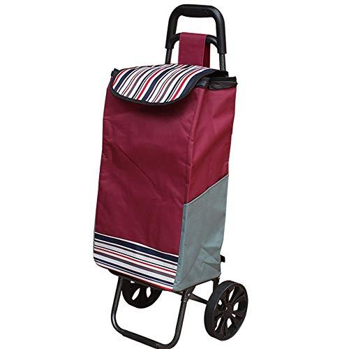 ZR Carrello di scalata pieghevole del carrello del carrello di acquisto con il carrello di utilità di drogheria delle tre ruote di gomma silenzioso con i cuscinetti a rotelle multi tasche borsa imperm