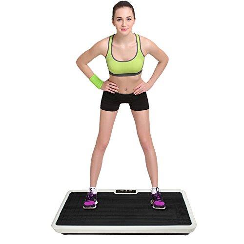 Plataforma vibratoria para oficina, sala de estar, moldeador de cuerpo, equipo de fitness para adelgazar (negro)