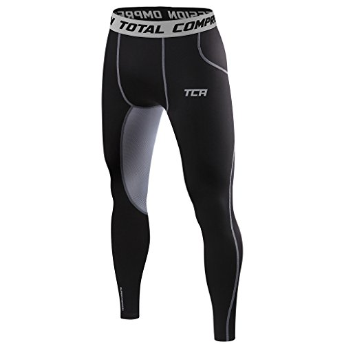 TCA SuperThermal Herren Base Layer Thermo Kompressionshose - Schwarz/Grau, S Thermal Base-layer Hose