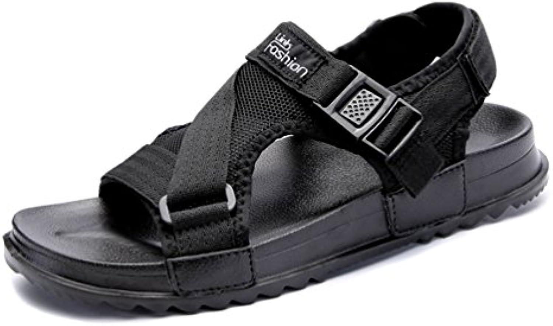 Qianliuk Herren Fashion Sandalen Hook Loop Men Casual Schuhe Bequeme Flache SandalenQianliuk Fashion Sandalen Hook Loop Bequeme