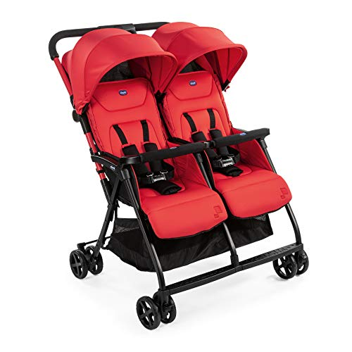 Chicco OHlala Twin - Silla de paseo gemelar, muy ligera y compacta, solo 8 kg, gemelos mellizos o hermanos...