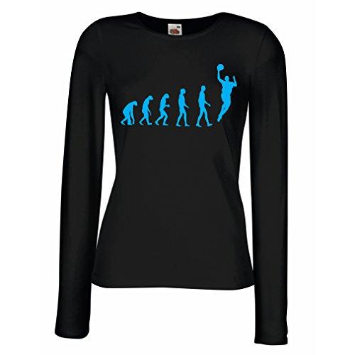 Camisetas Manga Larga Mujer evolución Baloncesto