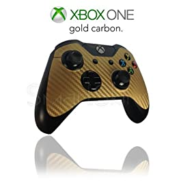 Xbox 1 One Controller Skin in Gold Carbon Wrap Cover Decal