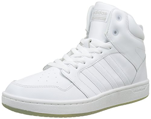adidas Herren CF Super Hoops Mid Hohe Sneaker, Weiß (Footwear White/Footwear White/Grey Two), 44 2/3 EU (Super-high-top-sneaker)