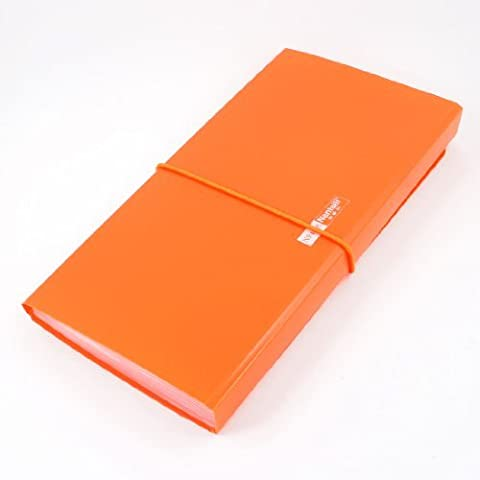 DealMux Orange Plastic Shell Elastic Strap Closure 13 Page Letters