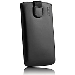 mumbi Real Leather Pouch With Flap And Pull-Up Strap for Samsung Galaxy A5 (2017)