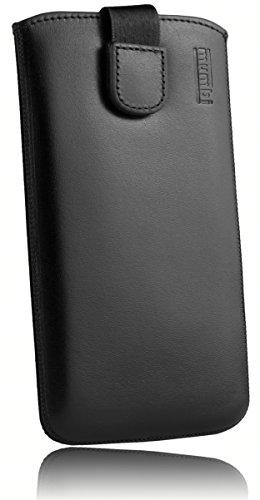 mumbi ECHT Ledertasche für Samsung Galaxy S7 Edge Tasche Leder Etui (Lasche mit Rückzugfunktion Ausziehhilfe) -