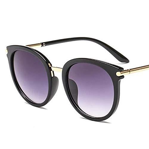 LAMAMAG Sonnenbrille Runde Sonnenbrille Frauen Markendesigner Cat Eye Retro Licht Sonnenbrille Spiegel Sonnenbrille Weibliche Zonnebril Dames Uv400,3