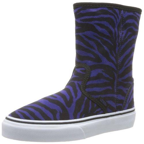 Vans K Slip-on Boot, Unisex-Kinder Hohe Sneakers Schwarz (suede Zebra/b)