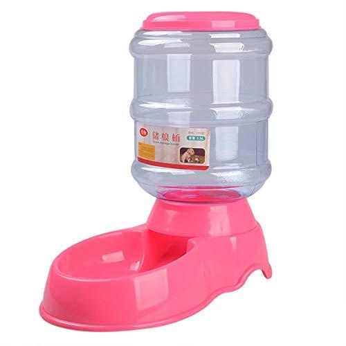 CAOQAO 3.5L Distributeur De Nourriture Distributeur Automatique Croquettes pour Chats Et Chiens,Pet Feeder pour Chien Et Chat (Automatic Feeder),Distributeur Eau Et Croquettes Automatique(,Rose)