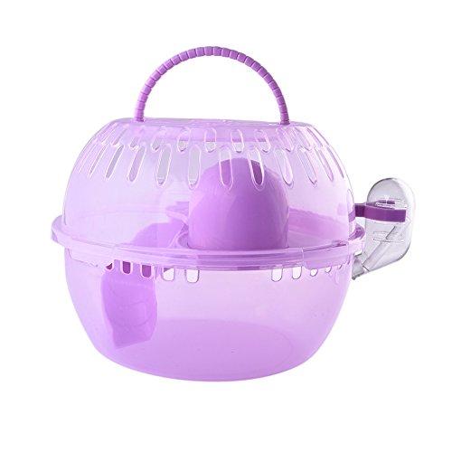 Jannyshop Transportbox Tierbox Kunststoff für Kleintier Hamster halb transparent small animal Cage blau/pink/gelb