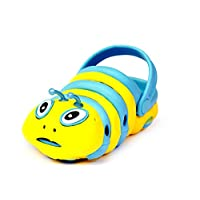 JeGes Caterpillar Clogs (8.5 UK Kids, Skye Blue) Kids Clogs - EVA Rubber Childrens Shoes, Unisex Summer Shoes, Summer Shoes for Boys, Summer Shoes for Girls, Quality Beach Footwear, Cartoon Clogs.